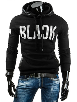 Casual Letter Hoodies For Men