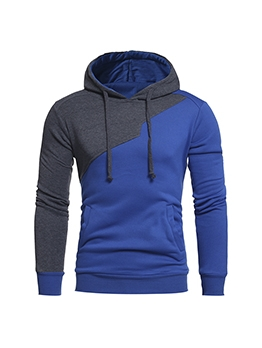 Outdoor Contrast Color Cool Hoodie Men
