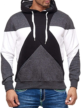 Casual New Contrast Color Hoodie