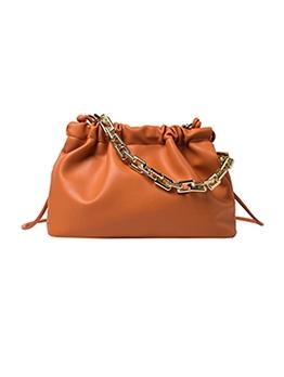 Solid Large Capacity Chain Handle Shoulder Bag