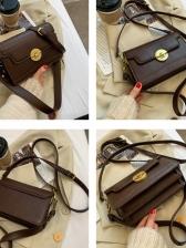 Simple Style Twist Lock Ladies Shoulder Bag