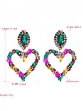 Heart Shape Rhinestone Stylish Earrings Ladies