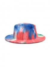 Latest Tie Dye Jazz Outdoor Novelty Fedora Hat