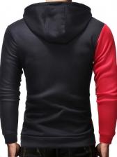 Fashion Contrast Color Design Hoodie Men