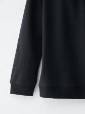 Skull Print Black Pullover Hoodie For Ladies