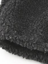 Lambswool Stand Collar Zipper Up Winter Coats