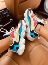 Color Block Sport Wear Sneakers For Women