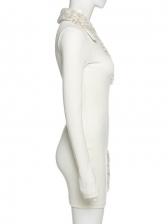 New Fall Patchwork Long Sleeve Mini Dress
