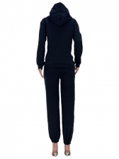 Casual Loose Letter Thicken 2 Piece Sets