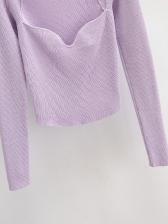 Korea Solid Knitting T Shirt