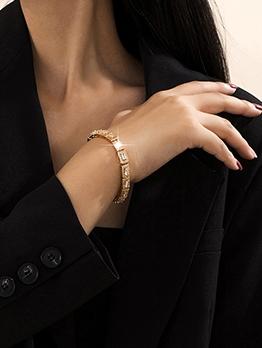 Rhinestone Business Women Geometry Bracelet