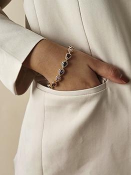 Vintage Colourful Rhinestone Design Drop Bracelet
