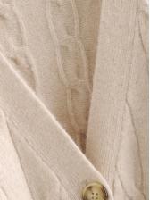 Single-Breasted V Neck Knitting Cardigan