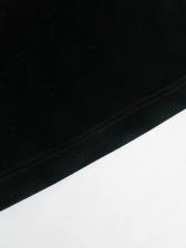 Fashion Black Velvet Wide Leg Pants For Winter