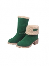 Round Toe Inner Fluffy Snow Boots