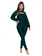 Solid Top With Camisole Jumpsuits 2 Piece Outfits