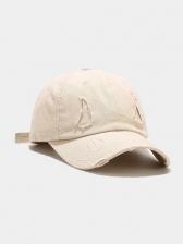 Korean Style Casual Distressed Baseball Cap