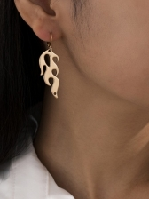 Hollow Out Flame Street Snap Casual Earrings