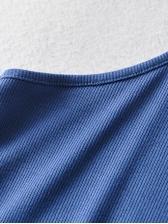Summer Solid Short Sleeveless Dress