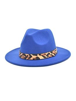 Winter Latest Leopard Fashion Unisex Fedora Hat