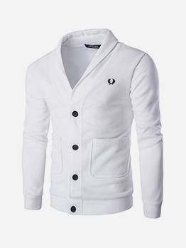Single-Breasted Pockets Long Sleeve Cardigan