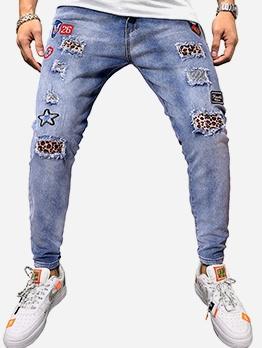 Paster Decor Mid Waist Pencil Mens Jeans
