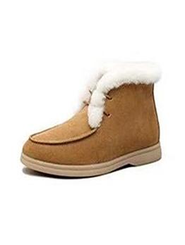 Vintage Inner Fur Patchwork Winter Boots
