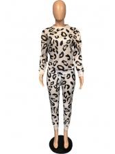 Leopard Print Casual Sweatsuit For Women