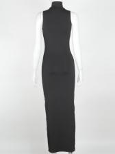 Cut Out High Neck Sleeveless Maxi Dress