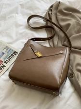 Solid Large Capacity Crossbody Shoulder Bag