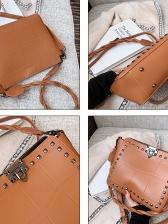 Retro Rivet Decor Shoulder Bags For Women