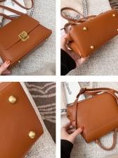 Simple Design Pure Color Ladies Shoulder Bag