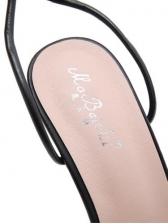 Euro Square Toe Chain Decor Summer Sandals