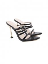 Pointed Toe Solid High Heel Ladies Slippers