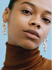 Hyperbole Alloy Material Fashion Geometry Earrings