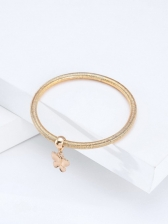 Butterfly Alloy Material Bracelet Three Pieces Set