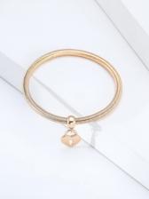 Latest Lovers Heart Lock Pendant Bracelet