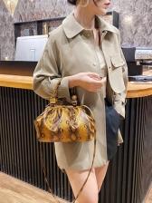 Trendy Snake Print Large Armpit Bag