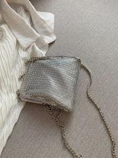 Easy Matching Metal Sequin Shoulder Bags For Women