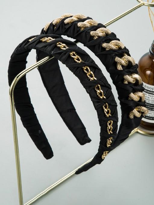Metal Chain Winding Cloth Vintage Hair Hoop