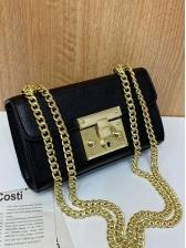 Simple Style Metal Design Square Mini Bag