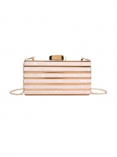 High End Marbling Square Evening Bag For Ladies