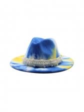 Winter Unisex Tie Dye Fashion Fedora Hat