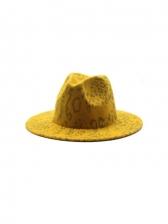 Leopard Jazz New Arrival Vintage Felt Hat