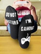 Letter Luminous Middle Tube Game Socks