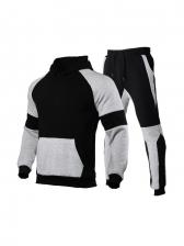 Contrast Color Pocket Workout Clothes