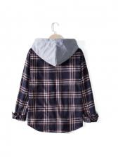 Casual Plaid Long Sleeve Shirt Coat