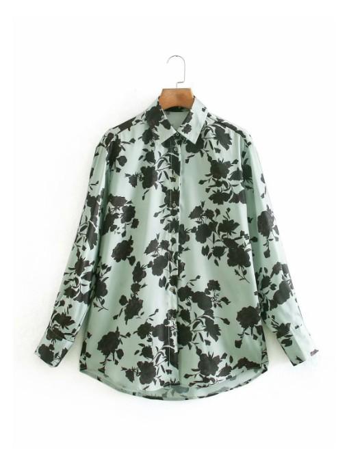 Fashion Print Blouses For Women