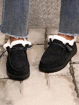 Inner Faux Fur Flat Slip On Shoes