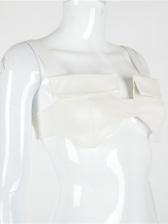 Chic Design Solid Color White Tank Top